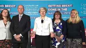 May:' Only Conservatives can deliver Brexit' [Video]