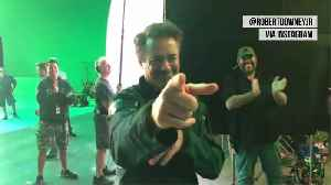 Robert Downey Jr. shares scenes from final day on 'Avengers' set [Video]