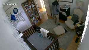 Quick-thinking US dad catches 11-month old son after he falls from chest of drawers [Video]