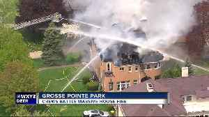 Fire Chief: Torch from renovation crew may have ignited mansion fire in Grosse Pointe Park [Video]