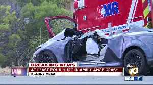 Four hospitalized after Kearny Mesa crash involving ambulance [Video]