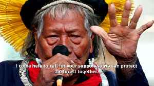 Indigenous chief warns the world will be damaged by Amazon logging [Video]