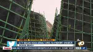 City building rock formations to help solve erosion problem near Sunset Cliffs [Video]