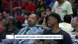 Jalen Rose really wants Juwan Howard to get the Michigan job [Video]