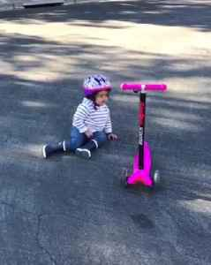 Little Girl Refuses To Ride Scooter Unless Dad Pushes Her [Video]