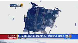News video: Pilot Safe After Military F-16 Fighter Jet Crashes At March Air Reserve Base