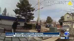 Boulder officer resigns, investigation complete after officer tries to detain man cleaning outside home [Video]