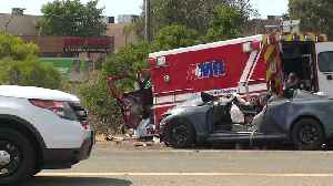 Five Injured in Multi-Car Crash Involving Ambulance in San Diego [Video]