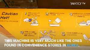 News video: Korean ramyeon machine in Singapore