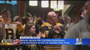 Bruins Fans Celebrate Sweep Of Hurricanes [Video]
