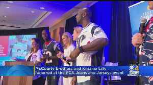 McCourty Brothers, Kristine Lilly Honored At PCA Jeans And Jerseys Even [Video]