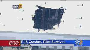 F-16 Pilot Crashes His Plane At March Air Reserve Base [Video]