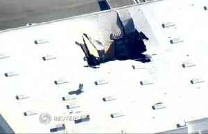 News video: F-16 pilot safely ejects after jet crashes into California building
