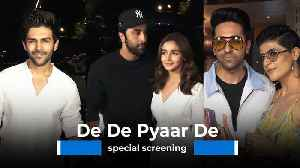 De De Pyaar De: Alia, Ranbir, Kartik Aaryan attend special screening [Video]