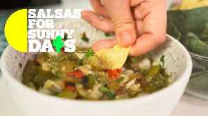 Salsas for Sunny Days: Chopped roasted tomatillo [Video]
