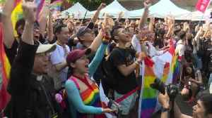 Taiwan celebrates same-sex marriage law [Video]