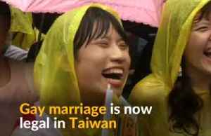 News video: Taiwan legalizes same-sex marriage