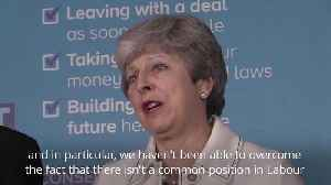 News video: Theresa May questions Jeremy Corbyn's commitment to delivering Brexit