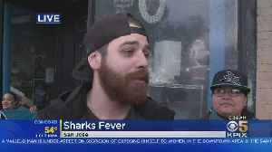 Die-Hard Sharks Fans Get Tattoos Ahead Of Game 4 Of Western Conference Final [Video]