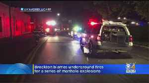 Brockton Mayor 'Not Very Happy' After More Manhole Explosions Downtown [Video]