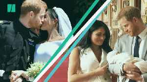 Harry And Meghan Celebrate First Wedding Anniversary [Video]