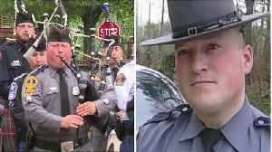 Virginia State Trooper Pipes Tributes to Fallen Comrades [Video]