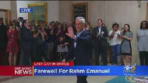 Mayor Rahm Emanuel Makes His Final City Hall Departure [Video]