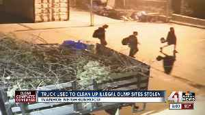 Truck used to clean up illegal dump sites stolen [Video]