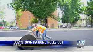 Temporary parking lot rolling out in downtown Eugene [Video]