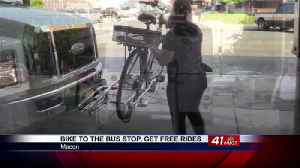 Macon bike riders get free bus rides for National Bike to Work Day [Video]