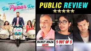 News video: De De Pyaar De PUBLIC REVIEW ⭐ ⭐ ⭐ | Ajay Devgn | Rakul Preet Singh
