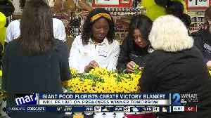 Florists at Giant Food create floral blankets for Preakness race winners [Video]