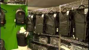 Larry James: Wellington father creates bulletproof backpack for daughter to take to school, hopes to keep students safe [Video]