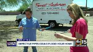 Bad pipes: Defective polybutylene could crack, flood your home [Video]
