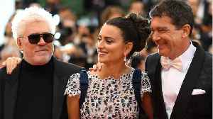 Penelope Cruz, Antonio Banderas Reunite On Cannes Red Carpet [Video]