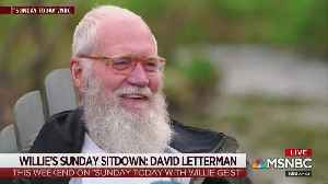 David Letterman doesn't like Trump as his president [Video]