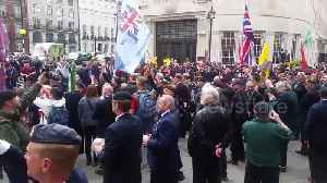 News video: British Army veterans protest outside BBC over Soldier F case