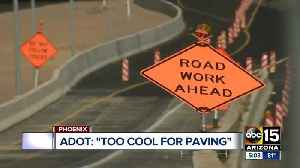 Weekend construction plans halted due to cooler weather [Video]