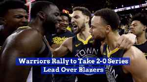 The Warriors Defeat The Blazers In Game 2 [Video]
