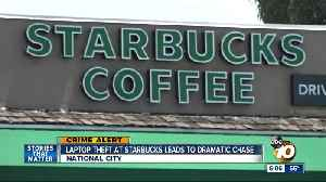 Laptop theft at Starbucks leads to dramatic chase [Video]