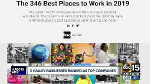 Several Valley businesses ranked as top companies to work for [Video]