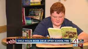 12-year-old boy donates 1,000 books to fire-damaged Missouri school [Video]