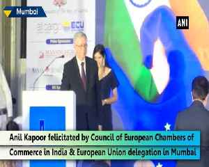 News video: Anil Kapoor felicitated by Council of European Chambers of Commerce for promoting childrens rights