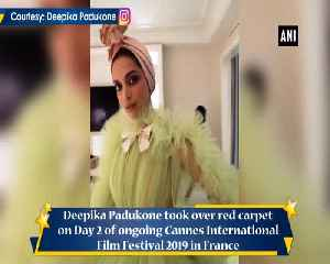 Cannes 2019 Deepika Padukone owns red carpet in lime tulle dress [Video]