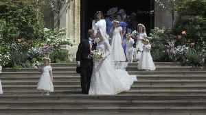 News video: Royal wedding: Lady Gabriella Windsor and Thomas Kingston kiss on chapel steps