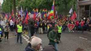 Protesters in Belfast demand the legalisation of same sex marriage [Video]