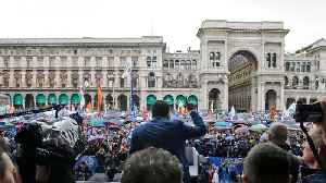 Far-Right EU Parties Rally In Milan Prior To Election [Video]