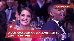 News video: Jamie Foxx And Katie Holmes Are One Happy Couple