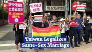 Taiwan Passes Same Sex Marriage Into Law [Video]