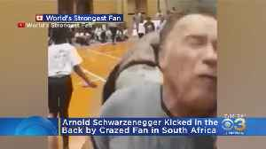 Arnold Schwarzenegger Kicked In The Back By Crazed Fan In South Africa [Video]